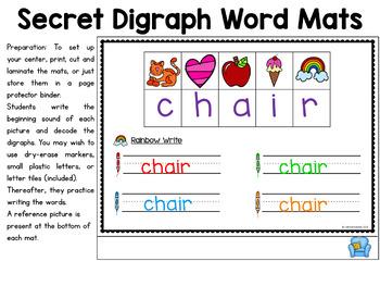 Digraphs Activities - Secret Code