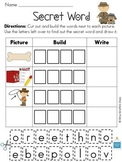 Secret Words & More Long O CVCe Words Packet