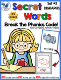 Secret Words Phonics 3: DIGRAPHS (Phonics Codes) Whimsy Wo
