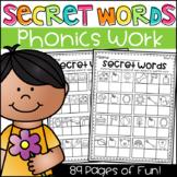 Secret Words Phonics Worksheets - CVC, Long Vowels, Digraphs, Blends & More!