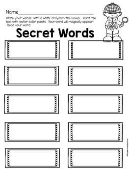 Secret Words Spelling Activity
