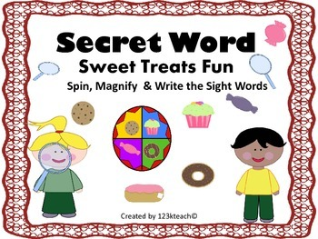 Secret Words~ Spin, Magnify, Read Sight Words, & Write