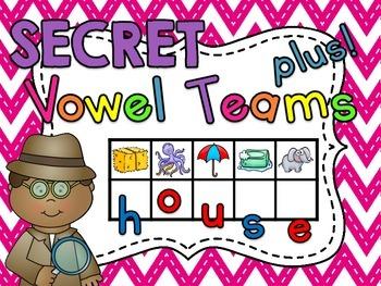 Secret Word Vowel Teams (167 vowel pairs center word building cards)
