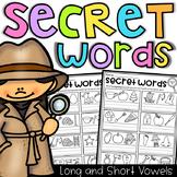 Secret Words Worksheets - CVC, Short Vowels and Long Vowels