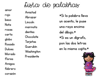 Secret Words in Spanish *February Edition*