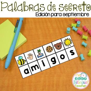 Secret Words in Spanish September Edition