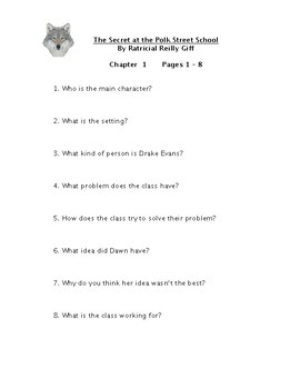 Secret and the Polk Street School Reading Comprehension Questions