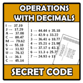 Secret code - Código secreto - Operations with decimals -