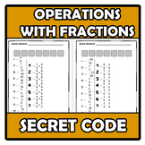Secret code - Código secreto - Operations with fractions -