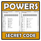 Secret code - Código secreto - Powers - Potencias