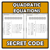 Secret code - Código secreto - Quadratic equations - Ecuac
