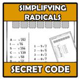 Secret code - Código secreto - Simplifying radicales - Radicales