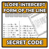 Secret code - Código secreto- Slope-intercept form of the