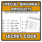 Secret code - Código secreto - Special Binomial Products -