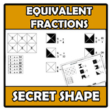 Secret shape - Equivalent fractions - Fracciones equivalentes