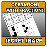 Secret shape - Forma secreta - Operations with fractions -