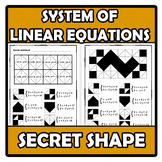 Secret shape - Forma secreta - System of linear equation -