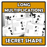 Secret shape - Long multiplications - Multiplicaciones