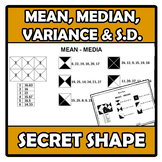 Secret shape - Mean, median, variance and standard deviati