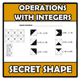 Secret shape - Operations with integers - Operaciones con enteros