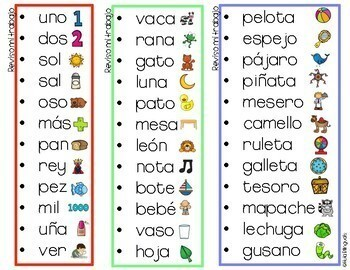 Secret words in Spanish
