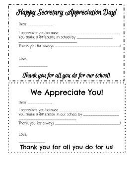 Secretary Appreciation Day
