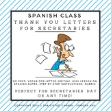 Secretary Appreciation Letter for Spanish Class