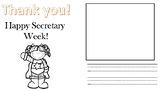 Secretary Week Thank you cards from Kids