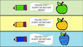 Secretary Week Water Bottle Labels