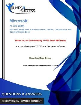 Secrets For Passing Microsoft 77-725 Exam [2019