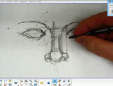 Secrets To Drawing The Eyes & Nose Together