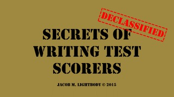 Secrets of Writing Test Scorers (STAAR Expository and Personal Narrative)