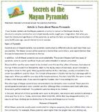 Secrets of the Mayan Pyramids: Spanish Reading Activities