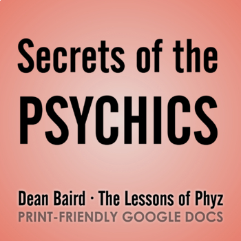 Secrets of the Psychics - Video Question Set