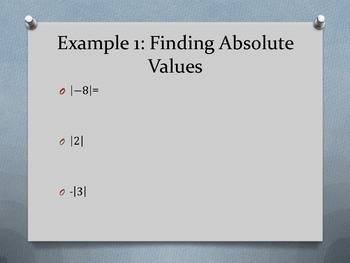 Section 1-2 Integers and Absolute Values
