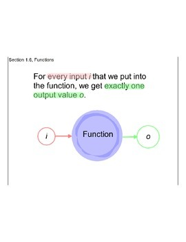 Section 1.6, Functions
