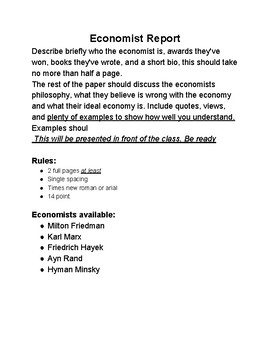 Section 3: Student paper over Economists