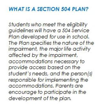 Section 504 Brochure