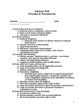 Section 504 Documents