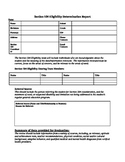 Section 504 Eligibility Determination Report