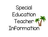 Special Education Teacher's Clipboard