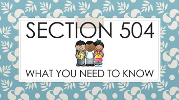 Section 504 - What You Need To Know (PowerPoint)