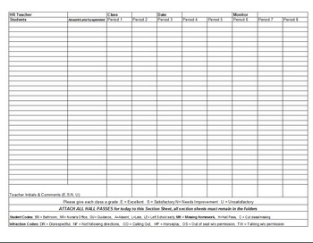 Section Sheet