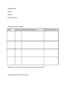 Sectional Practice Form (Music Ensembles)