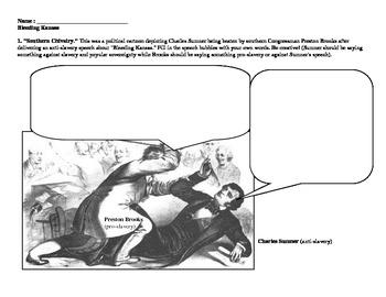 Sectionalism - Bleeding Kansas Political Cartoons