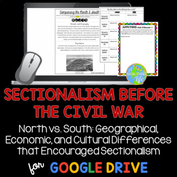 Sectionalism - Comparing the North and South Before the Civil War