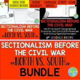 Sectionalism - Comparing the North and South Before the Civil War BUNDLE