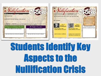 Sectionalism: Compromise and Nullification Digital Activity