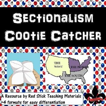 Sectionalism Cootie Catcher