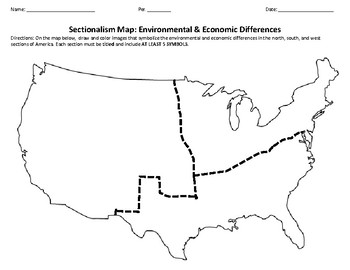 sectionalism environmental economic differences map